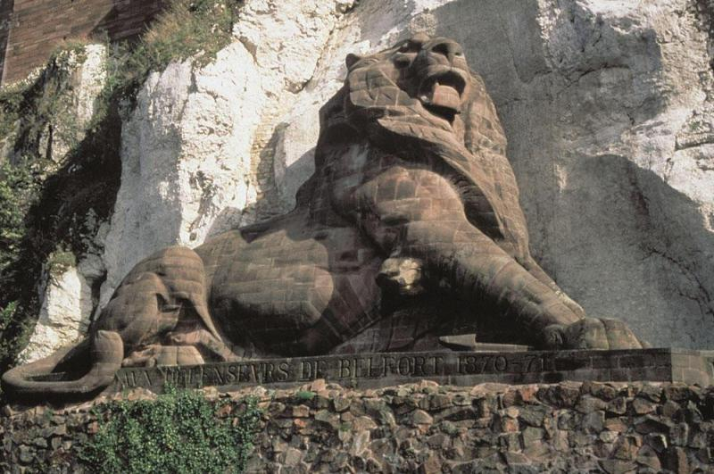 The famous Lion of Belfort commemorating the Victory was designed by the same person who designed the Statue of Liberty